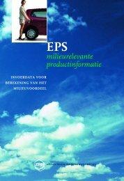 Invoerdata voor berekening van het milieuvoordeel