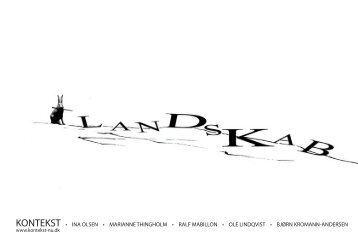 Kontekst Landskab - Ralf Mabillon