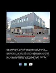 Nieuwsbrief december 2012 - Music & Lights