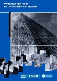 Ondernemingsraden en de kwaliteit van toezicht - Fnv