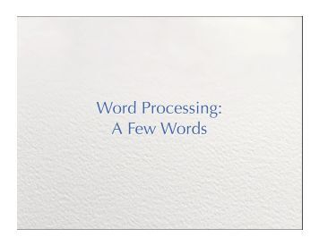 essay on word processing software Use microsoft word for the best word processing and document creation with word 2016 we've combined the features from previous versions to give you the best experience find out how document collaboration and editing tools can help polish your word docs.