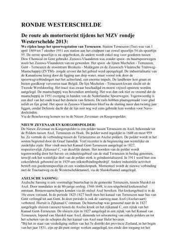 informatie - Motorclub Zeeuws-Vlaanderen