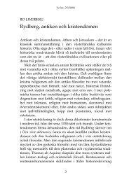 Rydberg, antiken och kristendomen