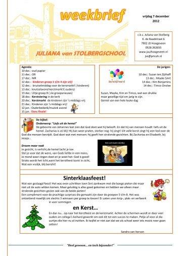 13 weekbrief 7 december 2012 - PricoH
