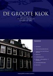 de Groote Klok - november_2009 - de Groote Sociëteit Zwolle