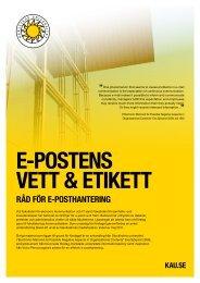 E-POSTENS VETT & ETIKETT - Sveriges Kommunikatörer