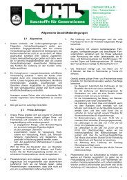AGBs - Uhl