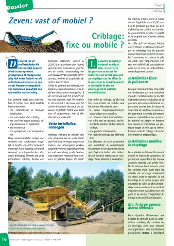 Dossier - Equipment & Road Construction