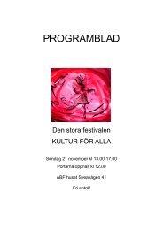 Program med tider, 2010 - HSO Stockholm
