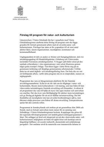 Programförslag - Information Västra Götaland