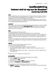 OpenSpeelpleinDag OpenSpeelpleinDag - Vlaamse Dienst ...