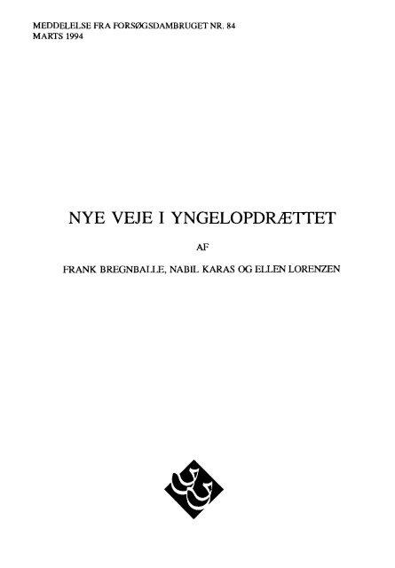 1994 Nye veje i yngelopdrættet - Runkebjerg.dk