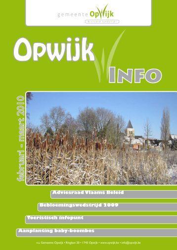 Infoblad februari 2010 - Opwijk