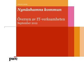 Revisionsrapport - Granskning av IT-verksamheten - Nynäshamns ...
