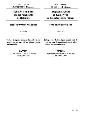S nat et chambre des repr sentants de belgique belgische for Chambre de representants de belgique