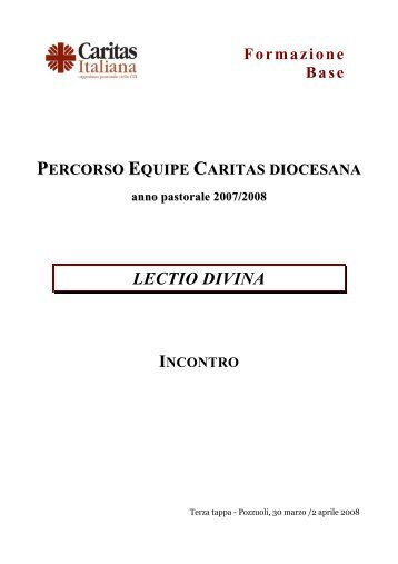 INCONTRO 1Sam 16,1-13 - Caritas Italiana