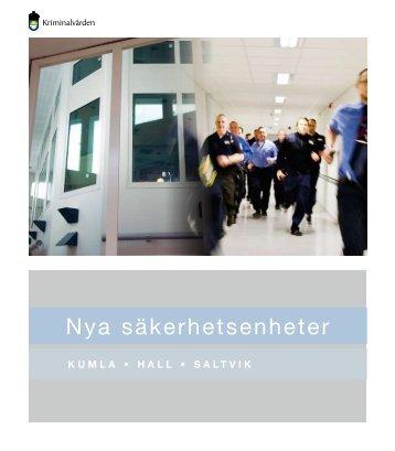 Nya säkerhetsenheter - Kriminalvården