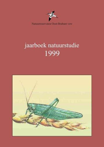 Jaarboek natuurstudie 1999 - Natuurpunt Velpe-Mene