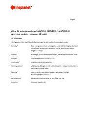 Styrelsens förslag villkor teckningsoptioner - Insplanet