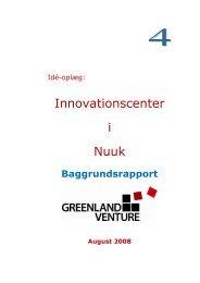 Innovationscenter i Nuuk - baggrundsrapport - Greenland Venture