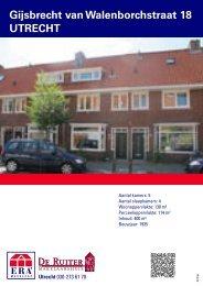 Gijsbrecht van Walenborchstraat 18 UTRECHT - De Ruiter ...