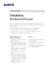 Checklista: Bredband till huset - Skellefteå Kraft