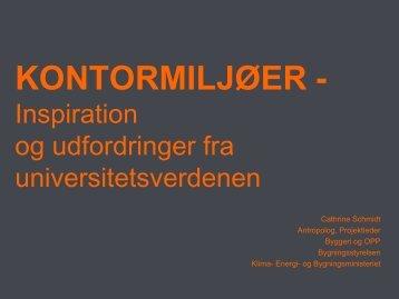 """""""Kontormiljøer - inspiration og udfordringer fra universitetsverdenen"""""""