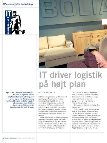IT driver logistik på højt plan - Opgaver