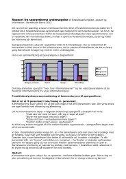Rapport fra spørgeskema undersøgelse af forældresamarbejdet ...