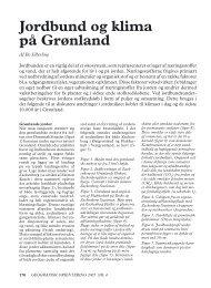 Jordbund og klima på Grønland - Zackenberg Research Station