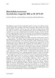 Rättsfallskommentar: Stockholms tingsrätt Mål nr B 3870-09 - Retfærd
