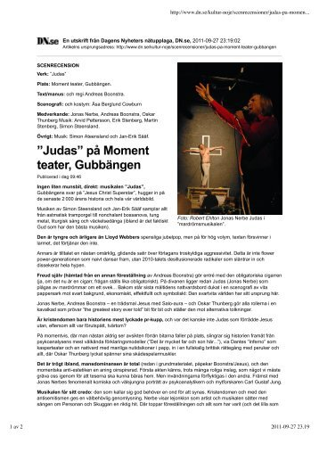DN, Judas. - Jan-Erik Sääf
