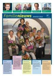 Familienieuws winter 2012 - Familiehuis Daniel den Hoed