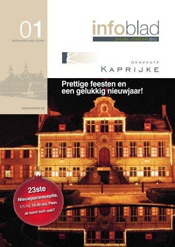 Infoblad januari - februari 2013 - Gemeente Kaprijke