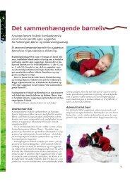 Det sammenhængende børneliv - Friskolebladet