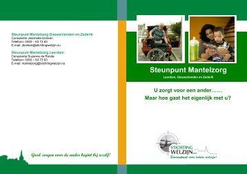 Steunpunt Mantelzorg - Stichting Welzijn