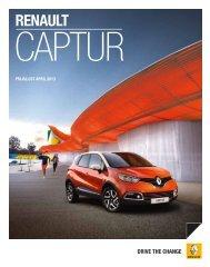 Prijslijst Captur 2013 - Bochane