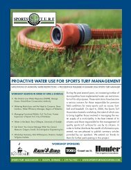 PROACTIVE WATER USE FOR SPORTS TURF MANAGEMENT