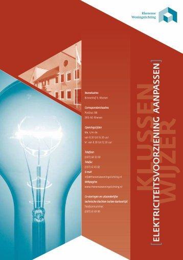 Elektriciteitsvoorziening aanpassen - Rhenense Woningstichting