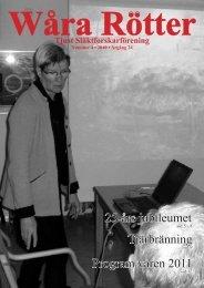 25-års jubileumet Tjärbränning Program våren 2011 - Tjust ...
