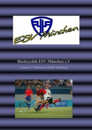 Informationen für Sponsoren - ESV München