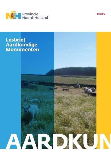 Lesbrief Aardkundige Monumenten (pdf - 619,8 kb) - Provincie ...