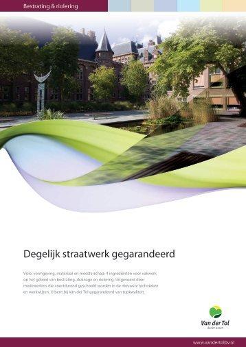 Degelijk straatwerk gegarandeerd - Van der Tol