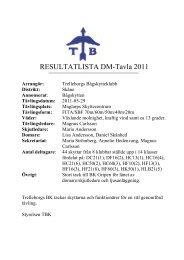 Resultat DM-Tavla 2011 - Helsingborgs Bågskytteklubb