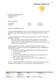 brevet fra IPT-utvalget til Landbruks- og ... - Norges Bondelag