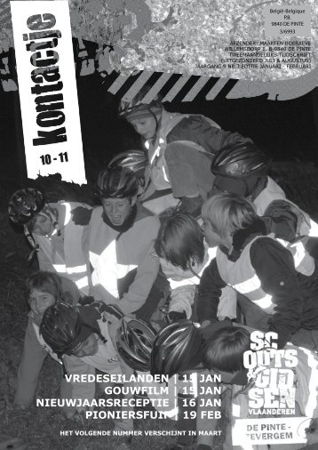 Kontactje 2010-2011 nr03 - Scouts en gidsen De Pinte
