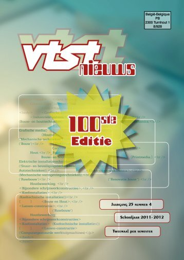 Nieuwe - Vrije Technische Scholen van Turnhout