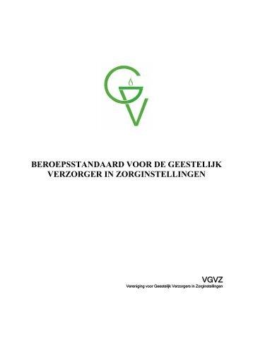 Definitieve versie beroepsstandaard - VGVZ