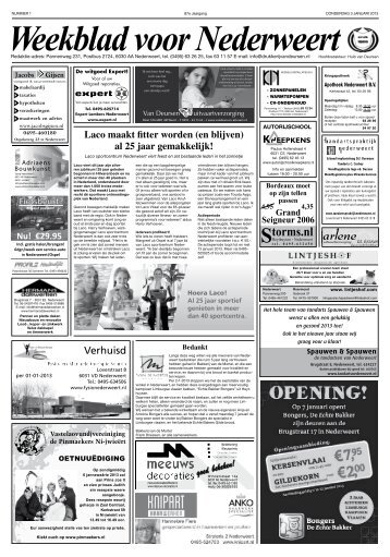 WEEK 01 - Weekblad voor Nederweert
