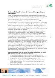 Information om remissen - Svanen